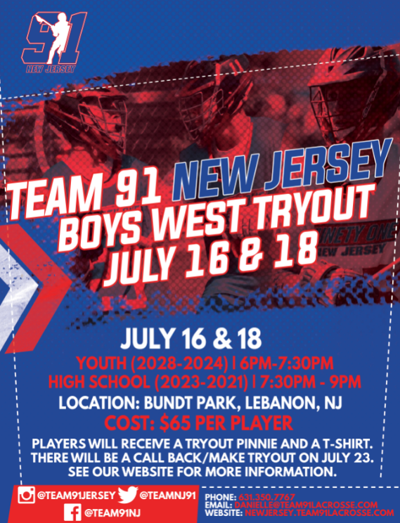 West Tryouts – Team 91 New Jersey