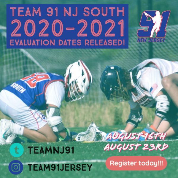 Team 91 NJ South Tryouts 2020